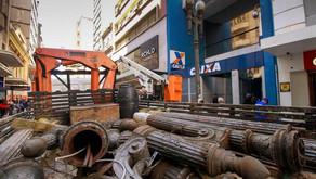 Postes históricos da Rua dos Andradas passarão por restauro