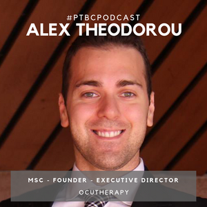 Alex Theodorou is founder of Ocutherapy, which  offers virtual reality guided rehabilitation, for patients with brain injuries and offers a wide variety of interactive therapeutic tasks