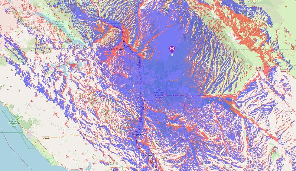 KK6ATA Repeater Coverage Map