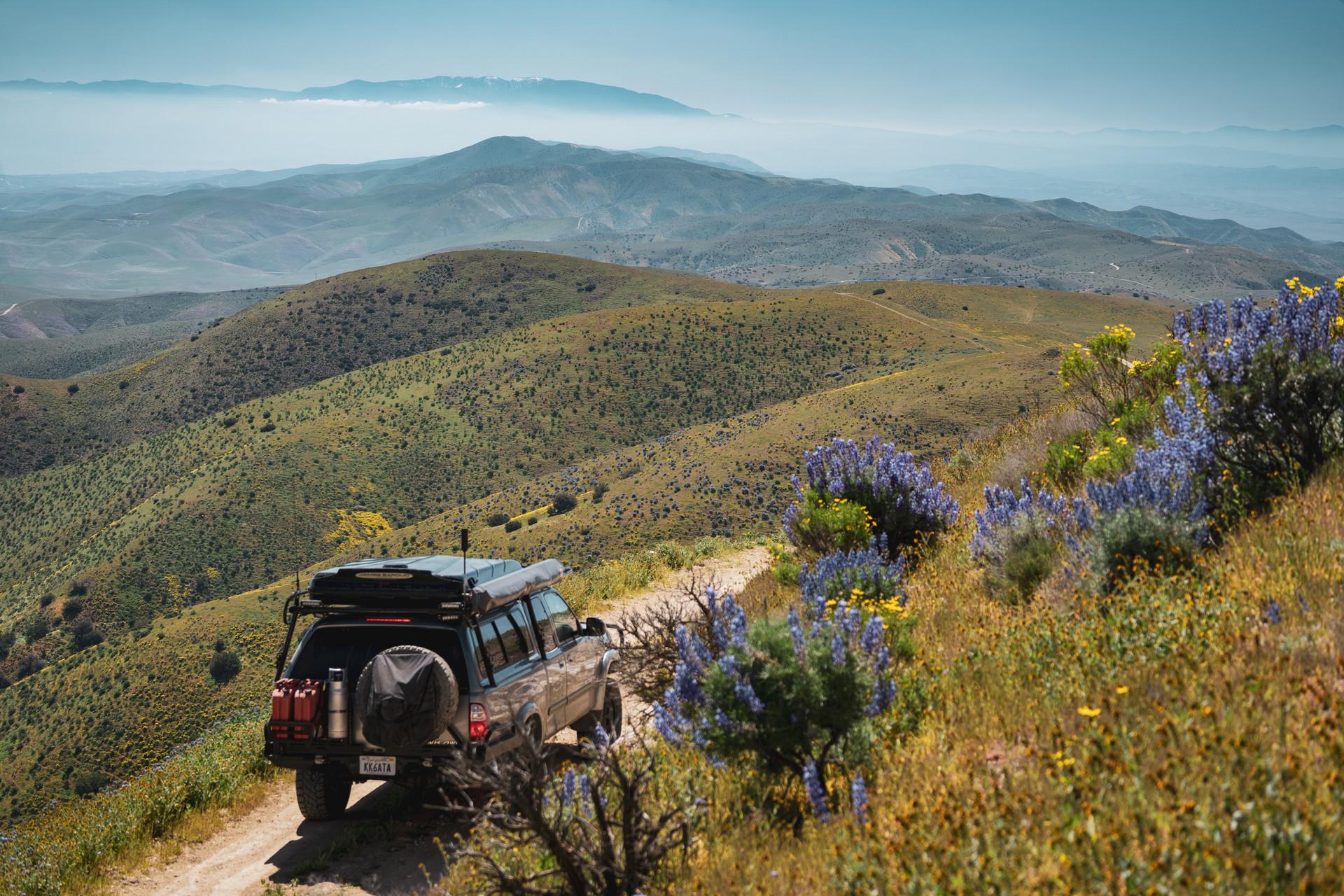 Driving the east ridge