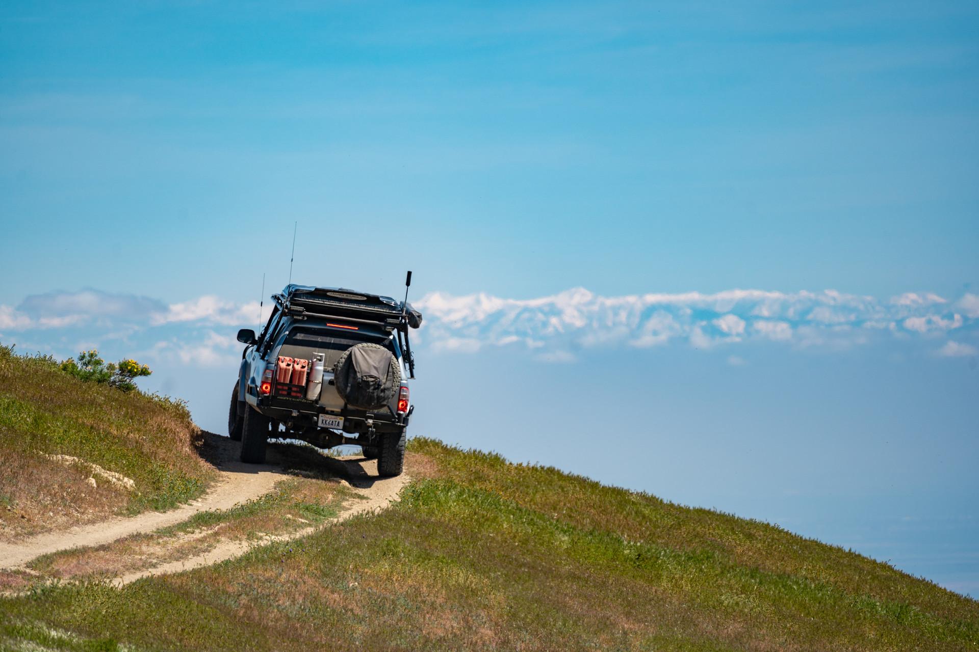 Heading towards the Western Sierra Nevadas