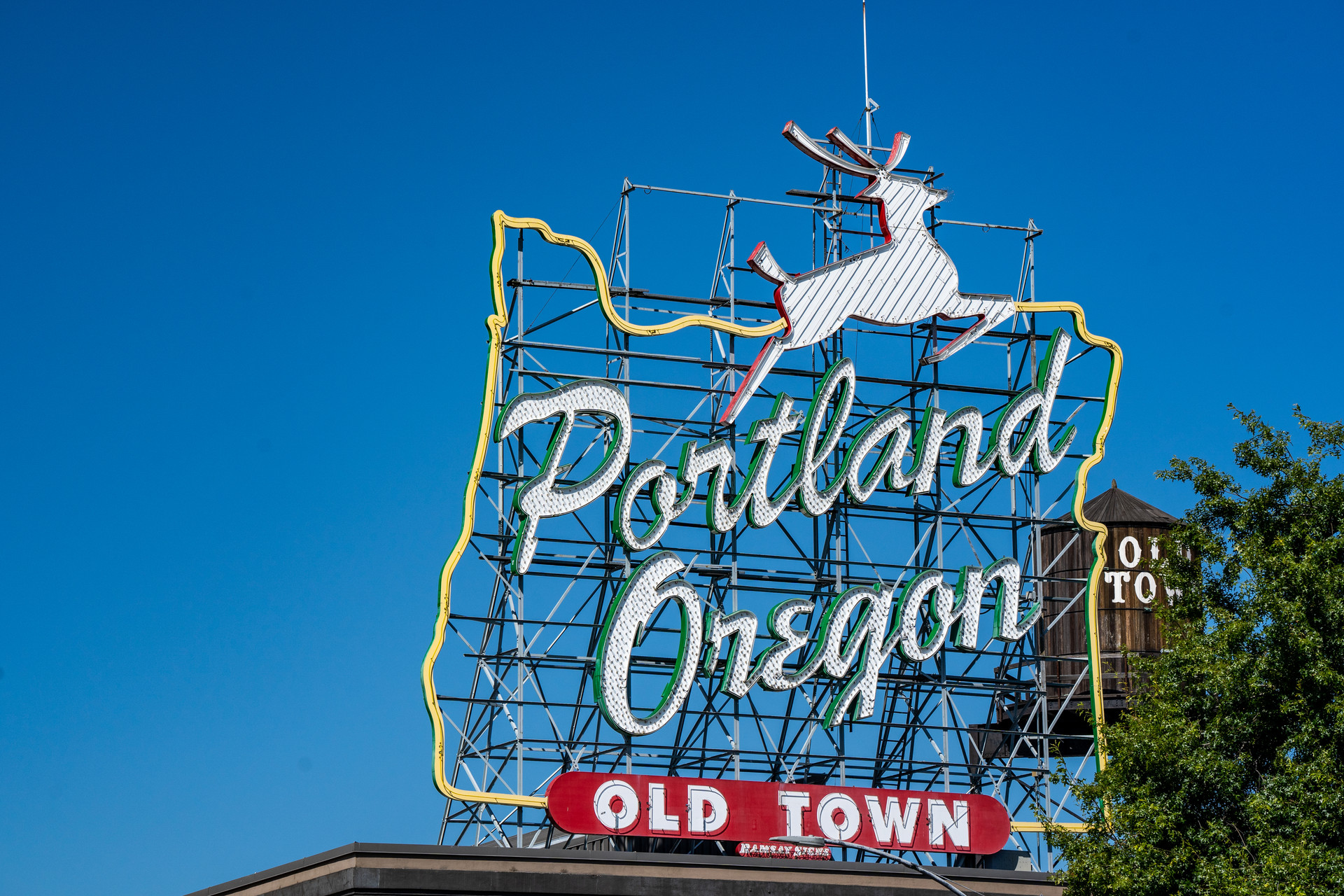 White Stag Sign, Downtown Portland