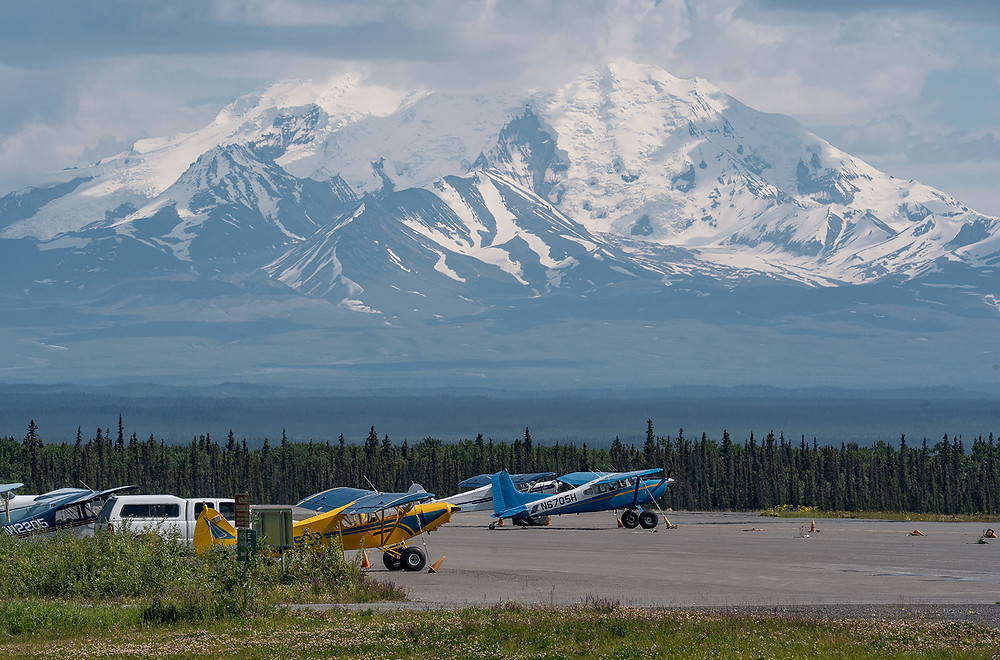 Gulkana Airport with Mt Drum in the Background