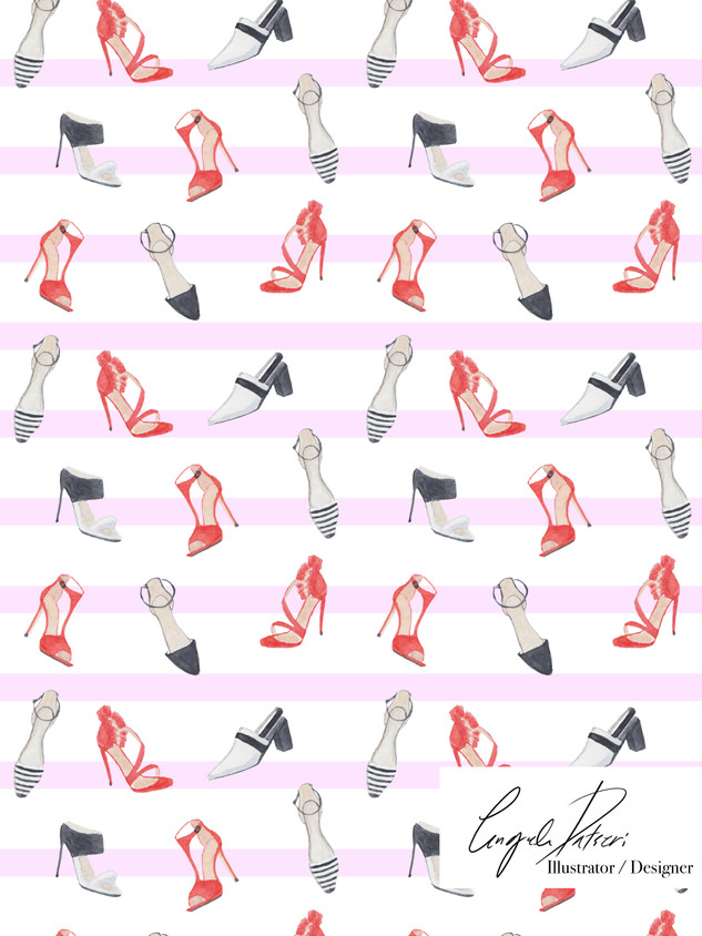 Red shoes and pink stripes