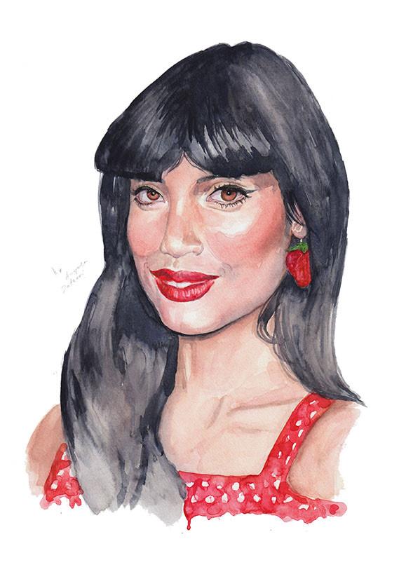 Jameela Jamil as Tahani Al-Jamil from the Good Place