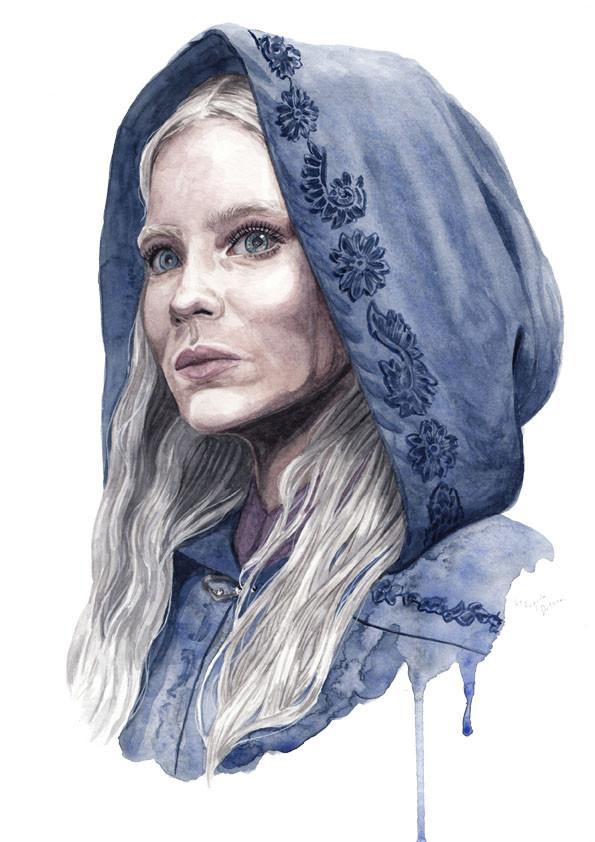 Freya Allan as Ciri from the Witcher