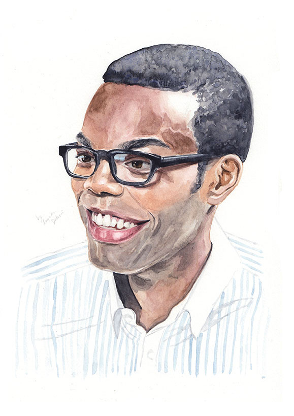 William Jackson Harper as Chidi Anagonye from The Good Place