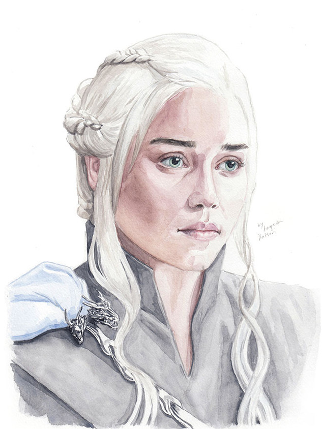 Emilia Clark as Daenerys Targaryen from Game of Thrones