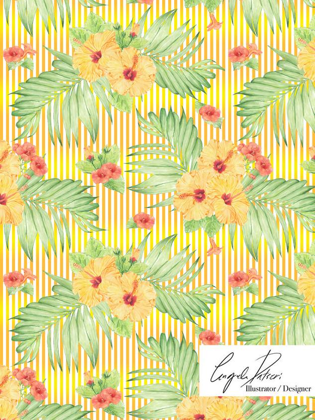 Hibiscus orange stripes