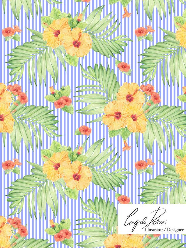Hibiscus blue stripes