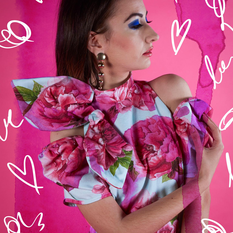 Photogarpher: Mi Kelly, Assistant Photographer: Ben Glven-Fervour, Fashion Designer: Rose Garcia, Design/Pattern: Angela Datseri, Illustrations on Image: Angela Datseri