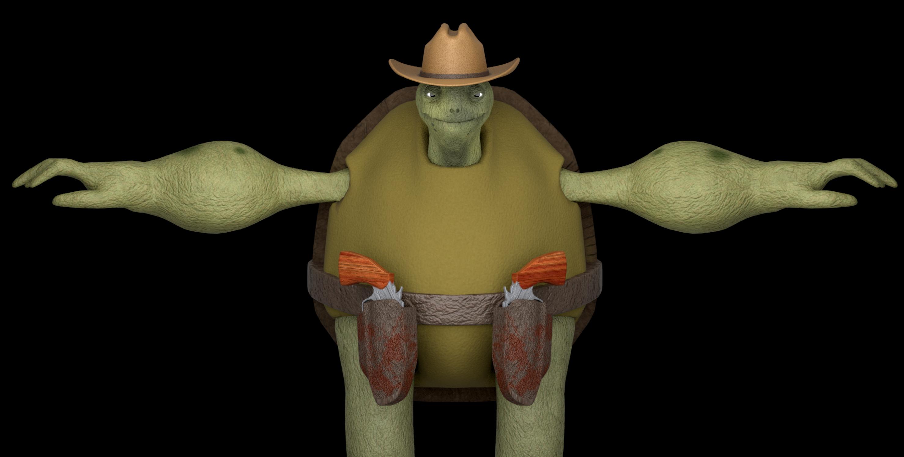 3D turtle model