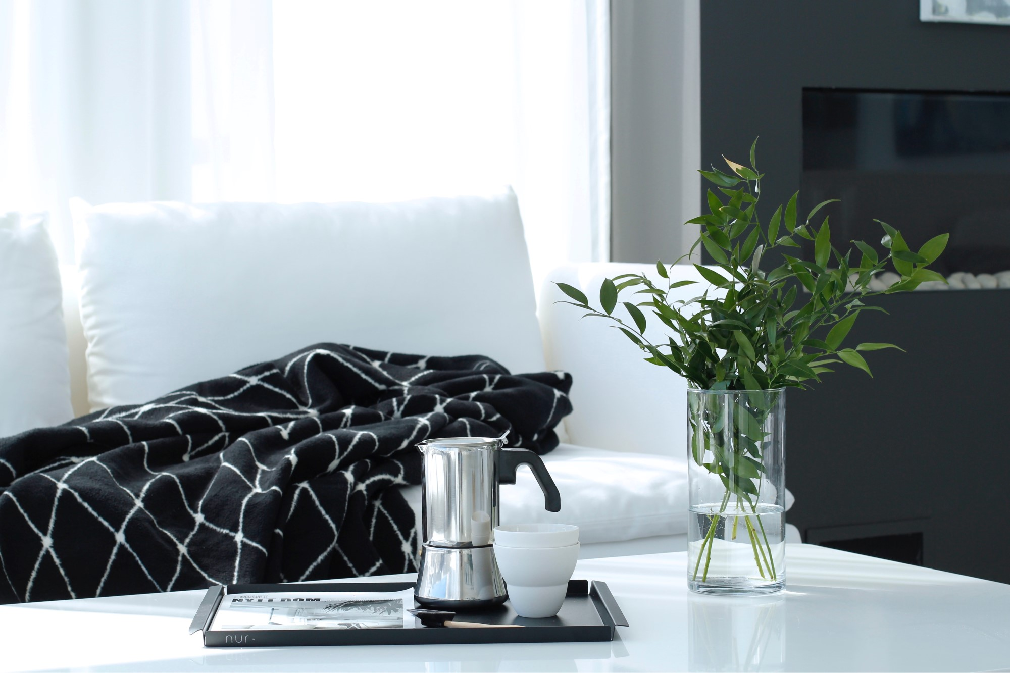 Livingroom accessories with Nur Tray