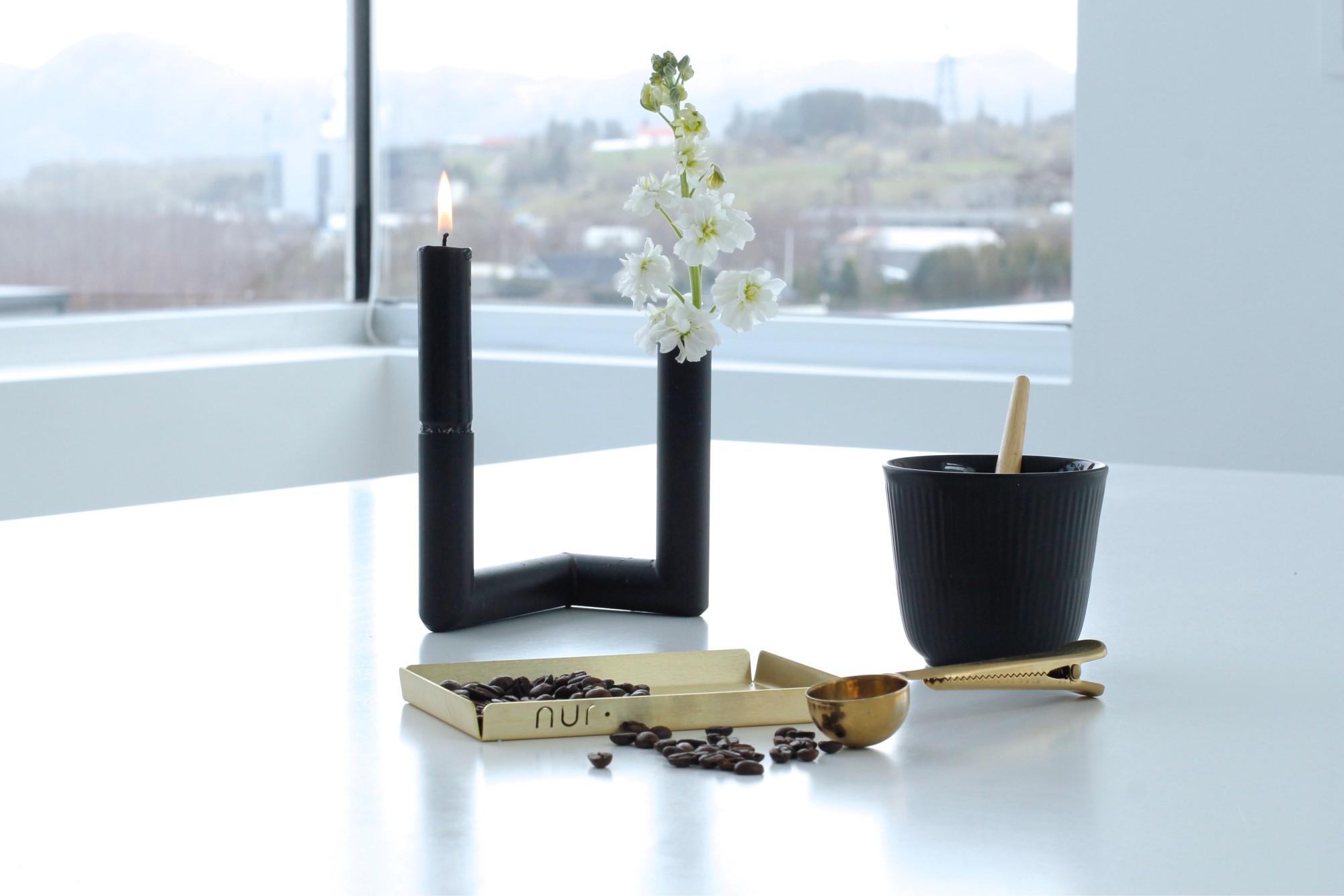Nur Pipeline vase and candleholder