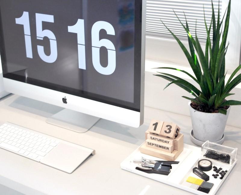 Hvid large Nur bakke til kontor ting