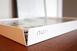 Nur Design magasin bakke i hvid