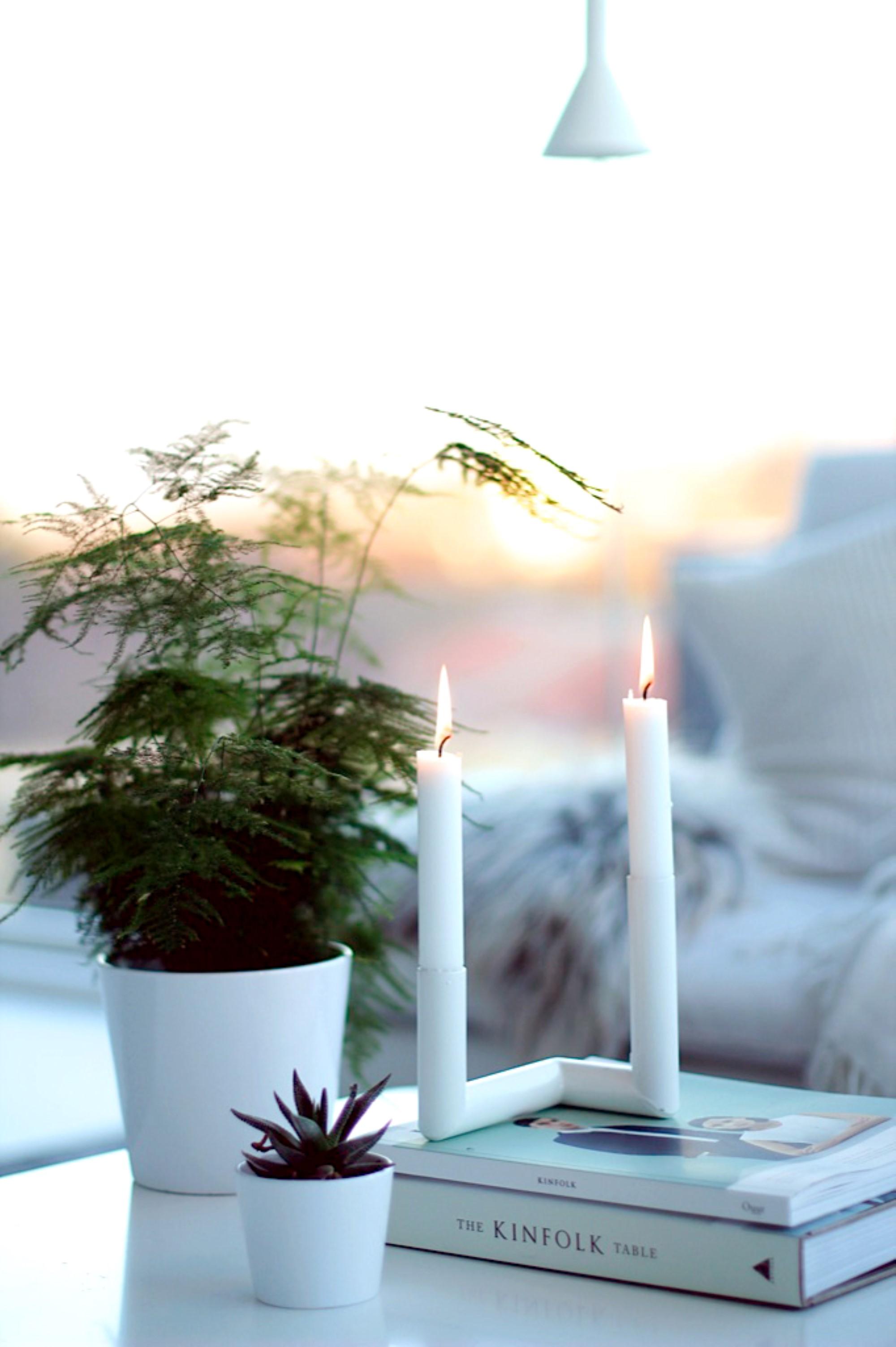 White candleholder Nur Design
