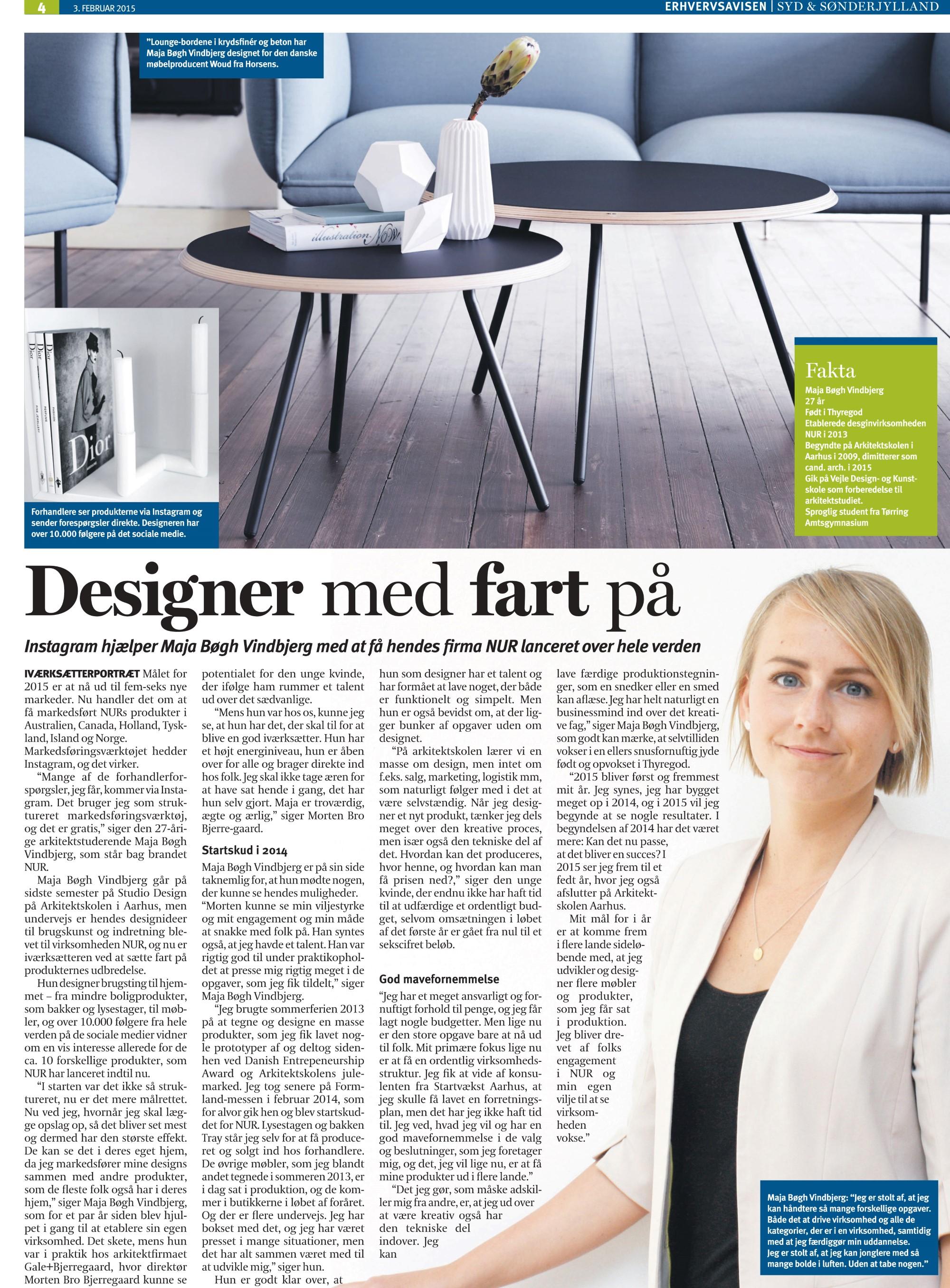 Artikel Erhvervsavisen Nur Design