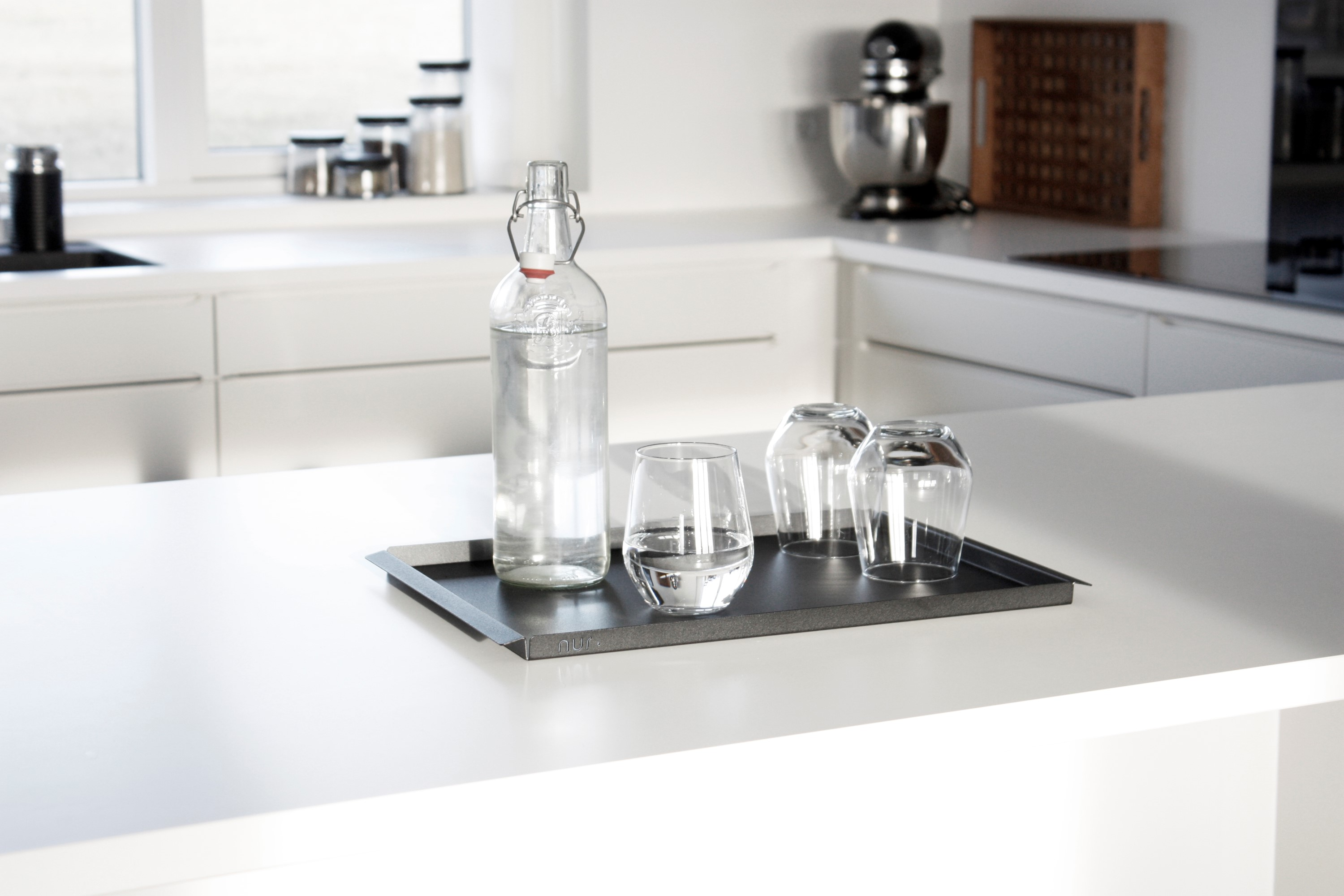 Kitchen details with serving tray