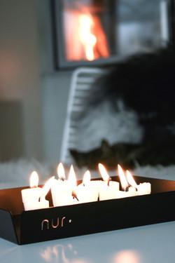 Nur Tray in black for home decor