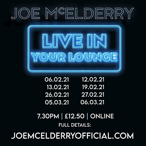 Live in Your Lounge - Feb/March 2021 Zoom Concert Tickets
