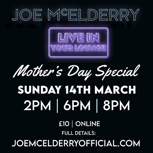 Mother's Day Live in Your Lounge Zoom Concert Tickets