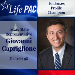 State Rep. Gio Capriglione HD 98