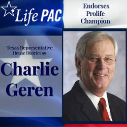 State Rep. Charlie Geren, Dist 99