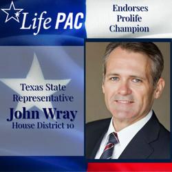 State Rep. John Wray, Dist 10