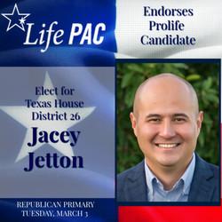 Jacey Jetton HD 26 LP Rep 2020