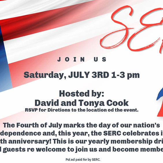 SERC INDEPENDENCE DAY PARTY