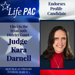 Judge Kara Darnell  99th Dist Court LP R