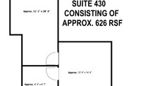 Suite 430 -Approx. 626 SQF