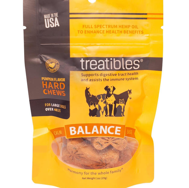 Treatibles Balance Pumpkin Chew Large 4 mg CBD 7 ct