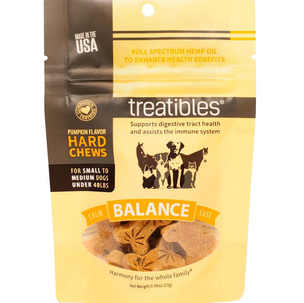 Treatibles Balance Pumpkin Chew 1 mg CBD Small 14 ct