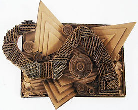 abstract cardboard sculpture.jpg