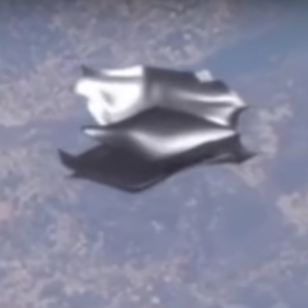 Black Knight Satellite ISS. 2018