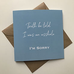 Tommy Atkins - Met The Man - Greetings Card - I'm Sorry - Apology