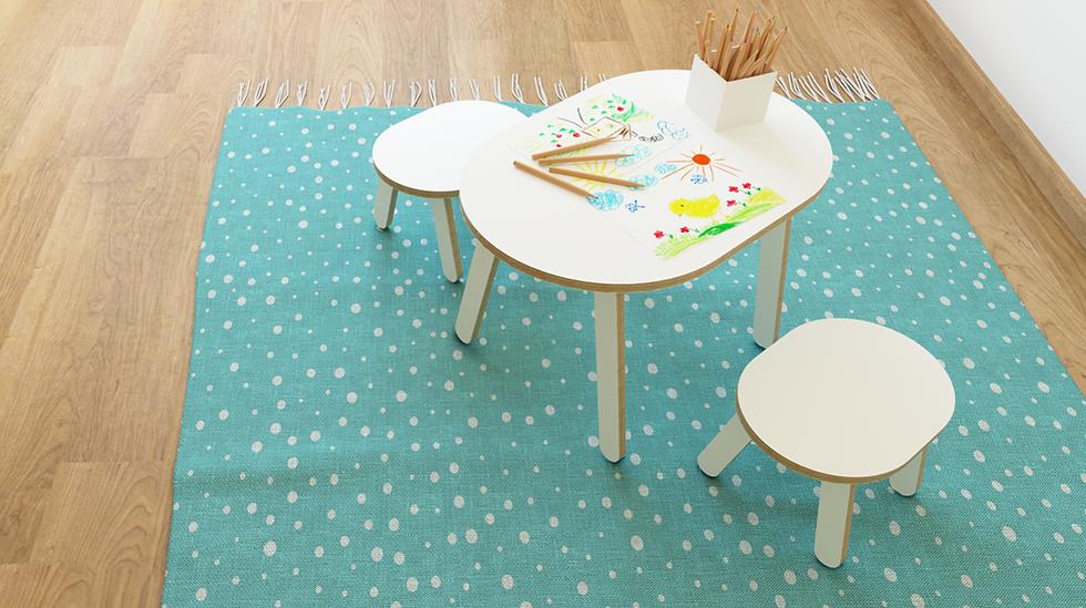 קיווי - סט שולחן ושני כיסאות