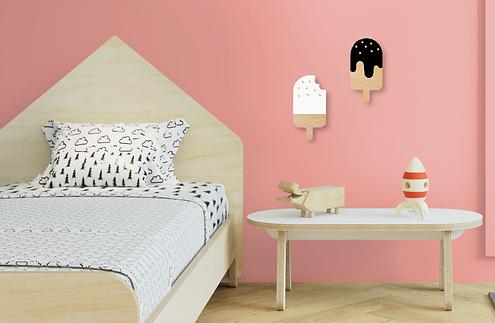 גלידת מעץ לילדים, גלידות מעץ, קידזו, מוצרים דקורטיבים לילדים, עיצוב חדרי ילדים, ריהוט מעץ לילדים