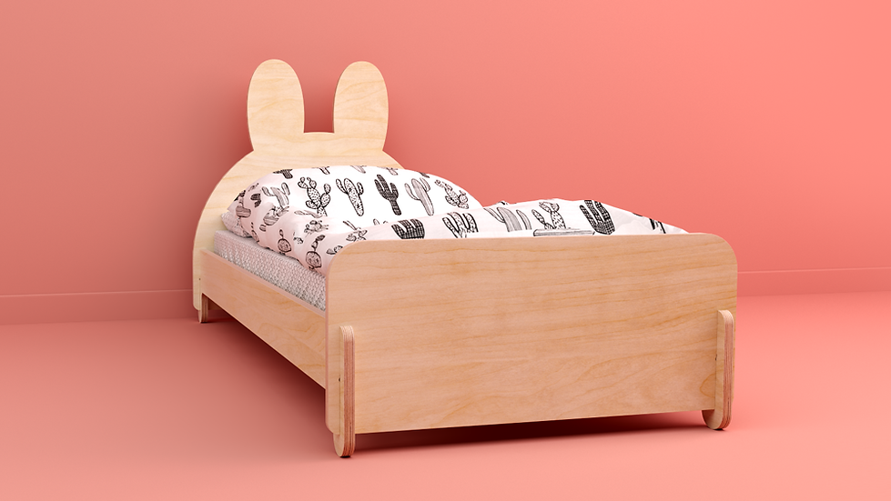 מיטת ילדים בצורת ארנב