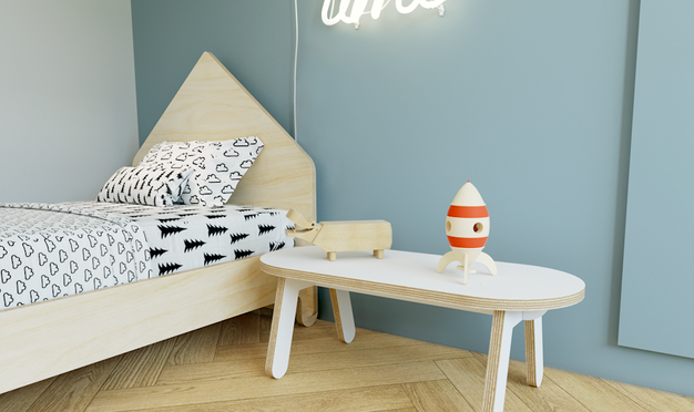 ספסל לילדים, כיסא ילדם, קידזו, ריהוט לחדרי ילדים מעץ, עיצוב פנים לחדר ילדים,