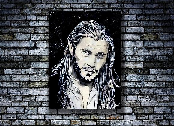 Chris Hemsworth Original painting on Canvas board