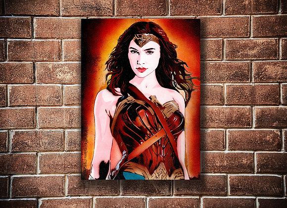 WonderWoman Original painting on Canvas board