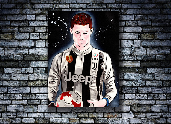 Cristiano Ronaldo Original painting on Canvas board