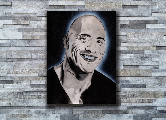 Dwayne Johnson Original painting on Canvas board