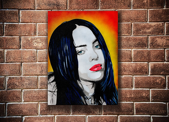 Billie Eilish Original painting on Canvas board