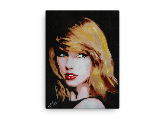 Taylor Swift Printed Canvas 12x16 inches