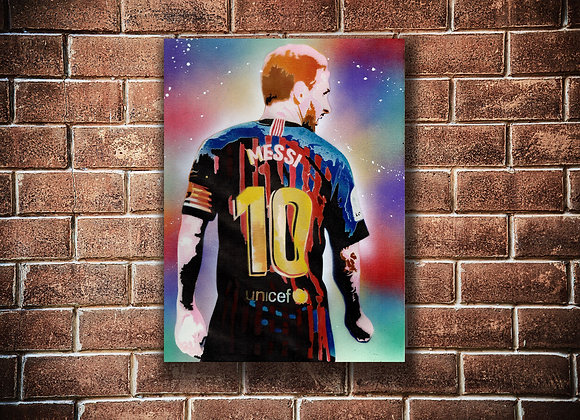 Lionel Messi Original painting on Canvas board