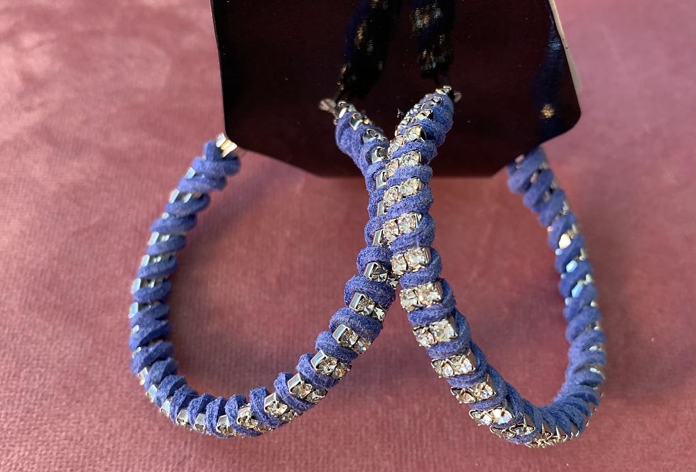 Blue Hoop | Earrings